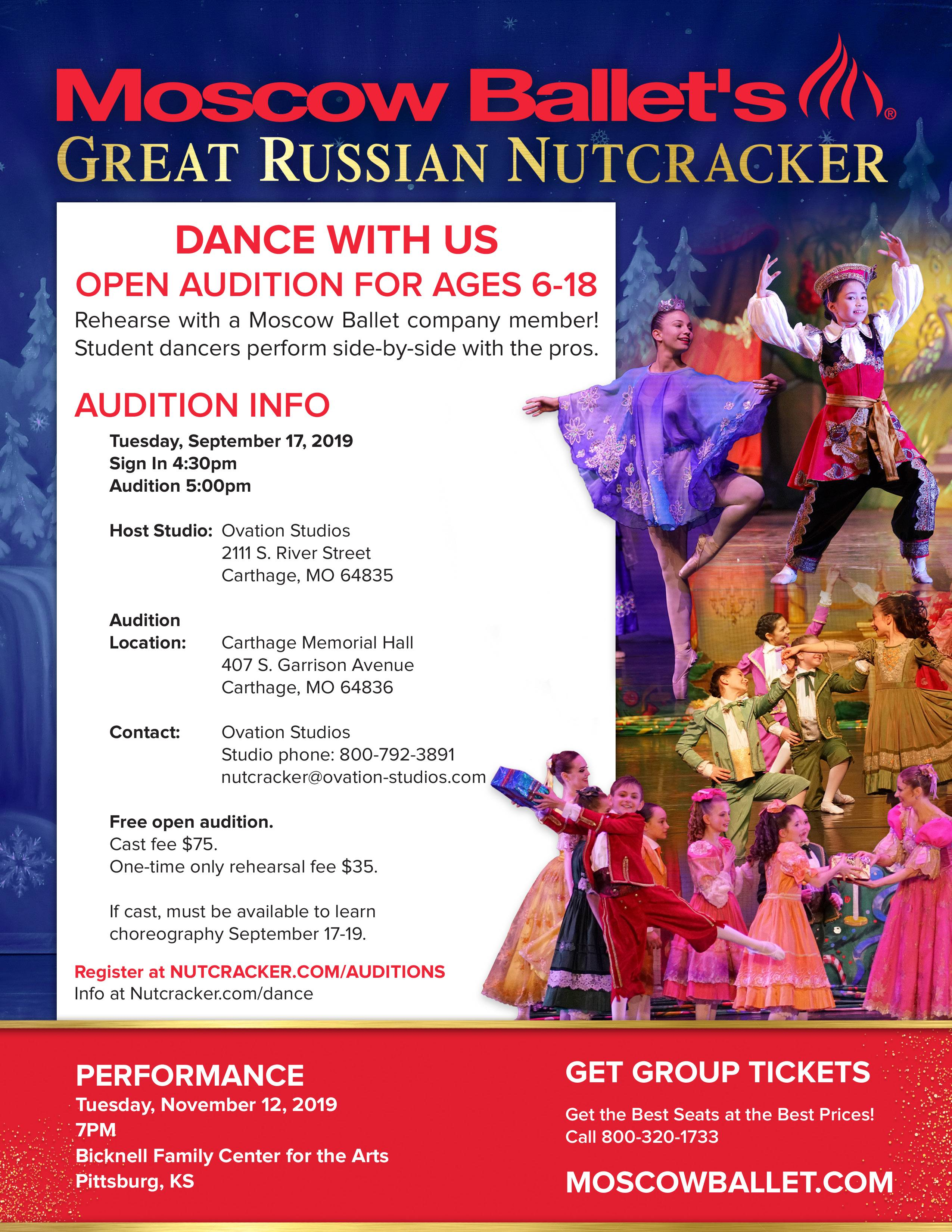2019 Nutcracker Auditions!