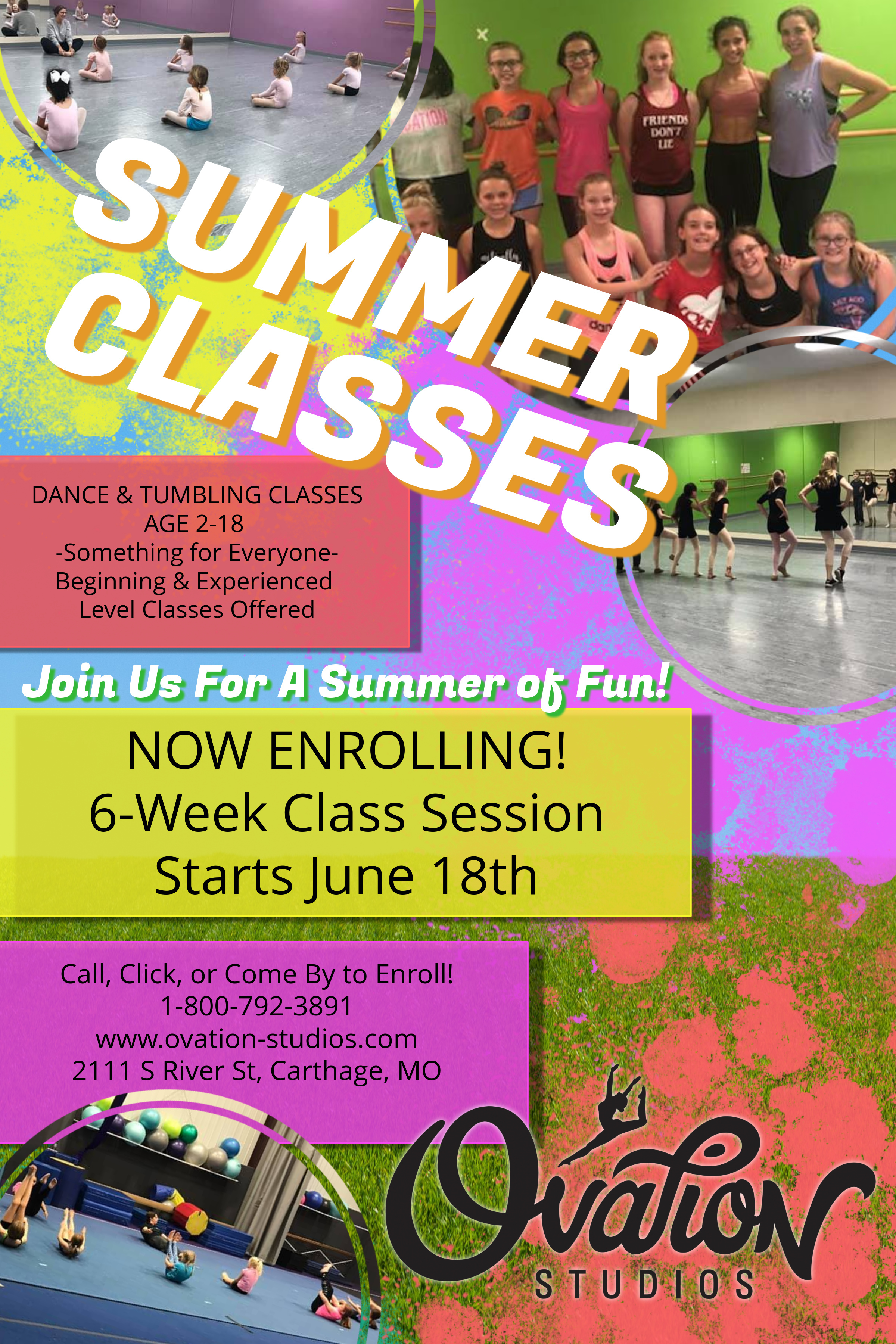 Now Enrolling for Summer Classes!